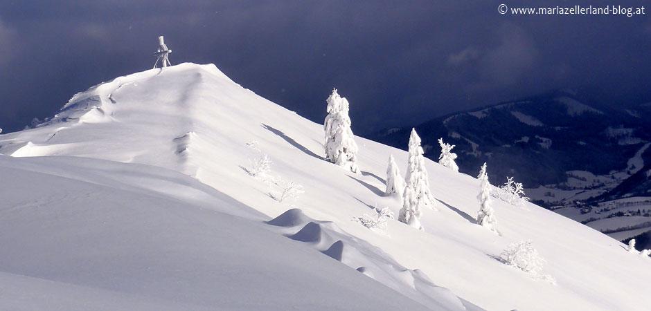 Gemeindealpe-Gipfel im Winter
